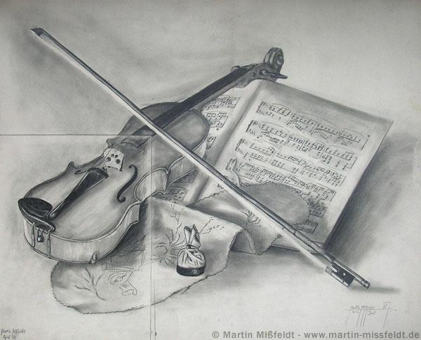 Bleistfitzeichnung Geige
